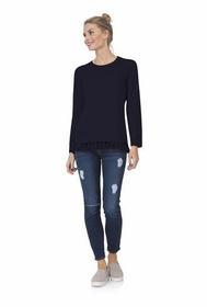 cozy for cashmere navy sweater