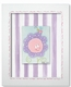 crazy daisy wall art - pink stripe - SOLD OUT