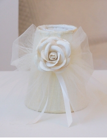 Cream Chandelier Shade with Tulle bow