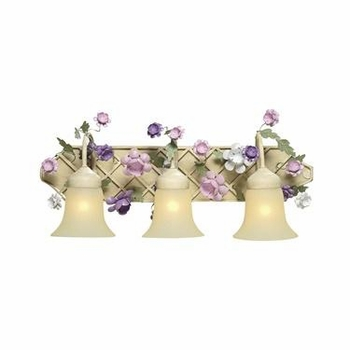 cream peach lavender gazebo bath light
