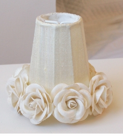 Cream rose-shades for Chandeliers or sconces
