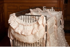 crib toy bag - silk