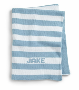 custom baby boy monogrammed knit set (blanket, sweater and hat)