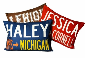 custom college pillow