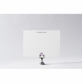 custom crest note cards