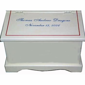 custom designed keepsake chest