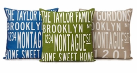custom family home pillow