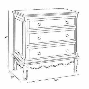 custom hand-painted french chest - serendipity