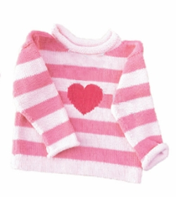 custom knit hearts sweater