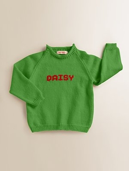 custom knit personalized name sweater