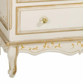 custom long french dresser - verona / versailles creme/ gold gilding