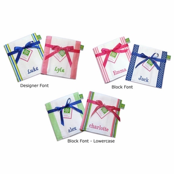 custom name burp cloth set