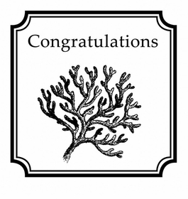 custom salutations stamp coralcongrats
