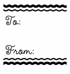 custom salutations stamp partytofrom