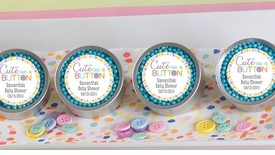 Cute As A Button Personalized Candy Tin (Set of 12)