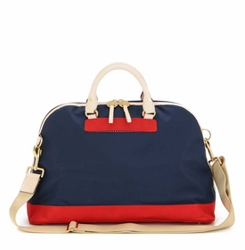 danzo baby retro bag - classic navy with red