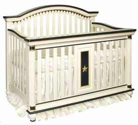 dauphin crib (linen/black/gold)