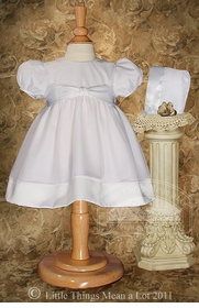 day length organza christening dress
