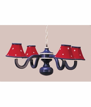 daydream four arm spindle chandelier