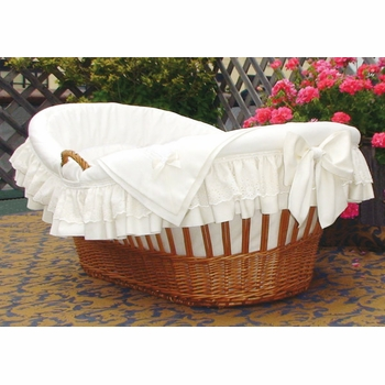 deluxe willow moses basket