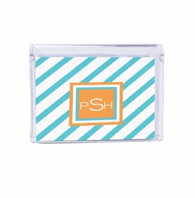 diagonal stripes children's note box