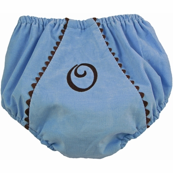 diaper cover - blue chocolate corduroy