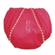 diaper cover - bright pink with white pique