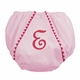 diaper cover - light pink with dark pink pique
