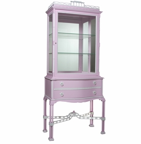 Display Cabinet with Mirrored Interior