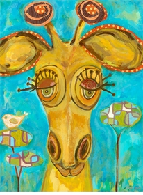 doe-eyed giraffe wall art