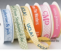 Dot + Neon Edge Personalized Ribbons