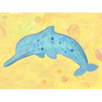 dotted dolphin wall art