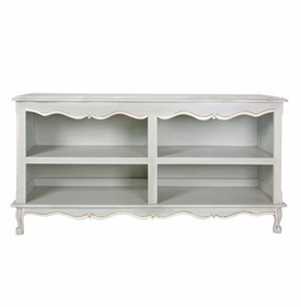 double french bookcase - provence blue