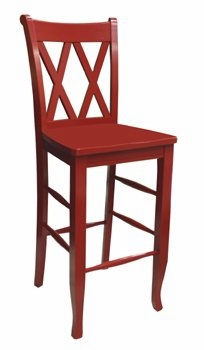 double x back bar stool 30h