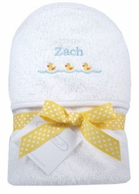 ducks personalized hooded towel