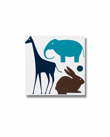 dwellstudio gio giraffe aqua wall art