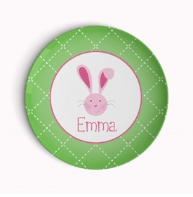 easter bunny holiday plate (style 1p)