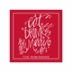eat drink be merry square paper coaster<br>set of 50