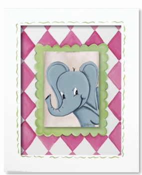 elephant framed canvas reproduction wall art - SOLD OUT