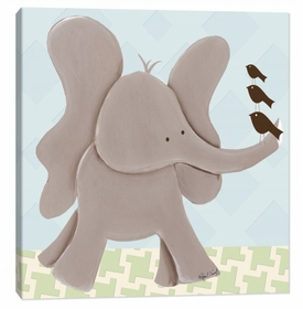 elephant wall art - blue