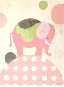 ella elephant pink wall art