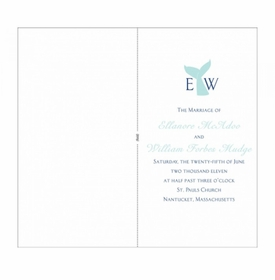 ellie & will ceremony program cover cards