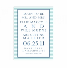 ellie & will save the date card