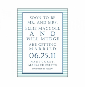 ellie & will save the date cards