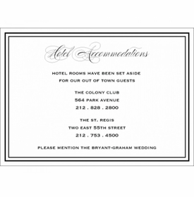 ellis & andrew hotel accommodations card