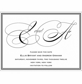 ellis & andrew save the date card