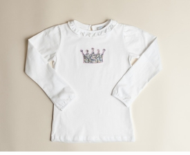 embroidered crown tee