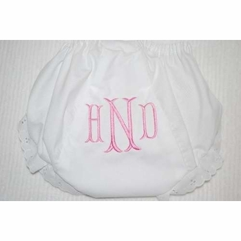 embroidered diaper cover - fishtale monogram
