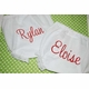 embroidered diaper cover with script name
