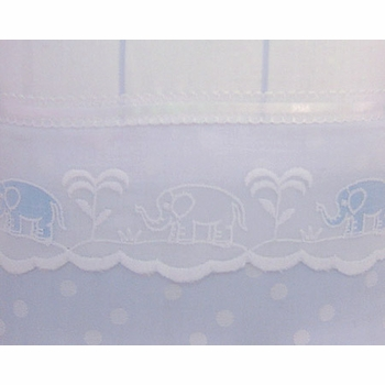 embroidered elephants crib bedding by blauen